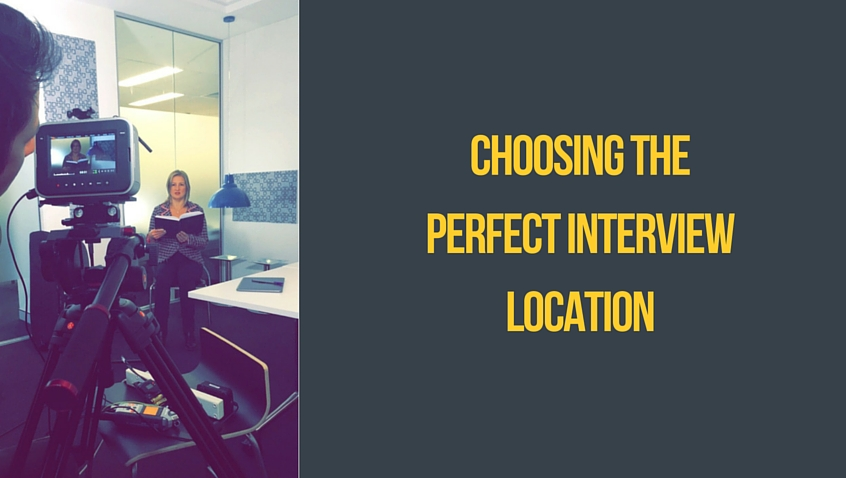 Choosing the perfect interview location